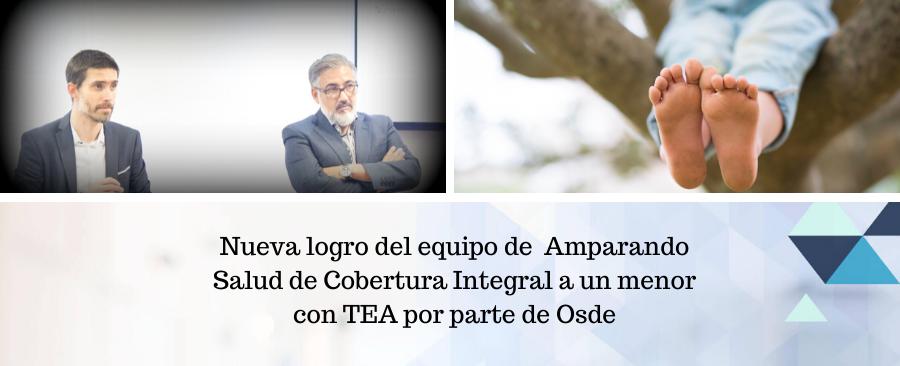 Nueva logro del equipo de Amparando Salud de Cobertura Integral a un menor con TEA por parte de Osde