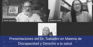Presentaciones del Dr Sabadini en Materia de Discapacidad y Derecho a la salud